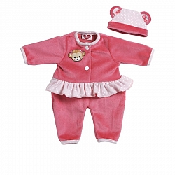 Play Time Baby Monkey Pink Outfit 33 cm